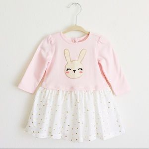 Gymboree, baby girl bunny dress, 6-12 months